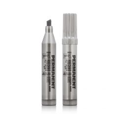 Montana Permanent Short Marker Silver 4mm Chisel Tip